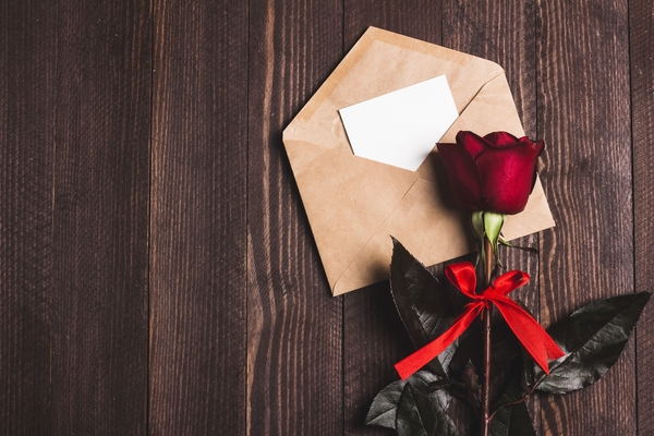 Why do we send red roses on Valentine's Day?