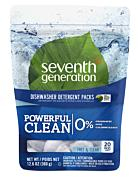 Automatic Dishwasher Pac Seventh Generation  – Free & Clear [20ct]