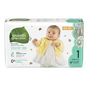 Seventh Generation Baby Diapers - Stage 1 New, 40ct (8-14 lbs) [40ct]