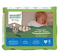Overnight Diapers Seventh Generation  - Stage 6 (35+ lbs) [17ct]