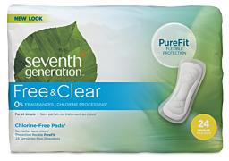 Seventh Generation Feminine Care - Regular Maxi Pads, No Wings 23 cm long
