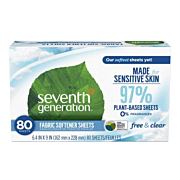 Seventh Generation Biobased Fabric Softener Sheets Free & Clear Product of Serendipity House in Hong Kong