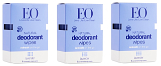 Deodorant Wipes Lavender 24 Packets Box