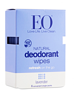 Deodorant Wipes, Lavender 6CT