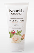 Organic Lightweight Face Lotion - Argan & Rosewater 1.70z