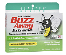 Buzz Away Insect Repellent Towelettes 12ct