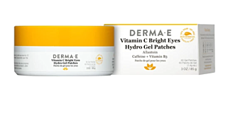 Derma E vitamin c bright eyes hydro gel patches caffeine + Vitamin b3 vegan skincare Serendipity House in Hong Kong