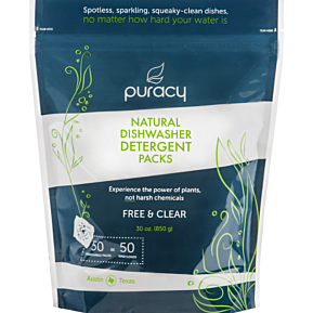Natural Dishwasher Detergent Packs Free & Clear (Pack of 50)